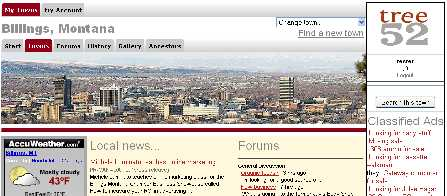 sample image of town page